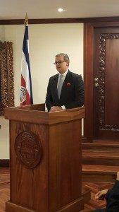 El canciller de la República, Manuel González, comentó sobre la situación migratoria de los cubanos luego de dar el informe de labores de la Cancillería durante este 2015.
