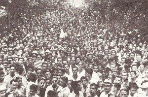 Manifestación en San José el 1º de mayo de 1943.