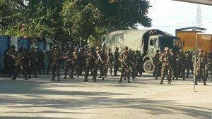 El gobierno de Nicaragua envió decenas de militares a la frontera de Peñas Blancas, para impedir el paso de los emigrantes cubanos.