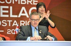 En enero del 2015, el Canciller lideró el equipo que preparó la reunión de la Celac en Costa Rica.