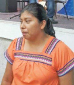 Mirna Román, de la comunidad indígena Gnöbe de Alto San Antonio, frontera sur.