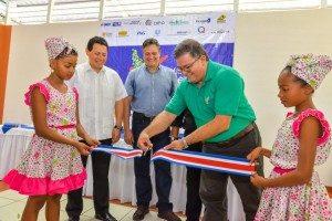 El pasado jueves 26 de noviembre se realizó la inauguración del banco de alimentos  en la provincia de Limón.