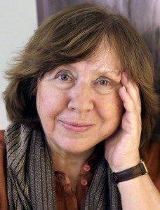 Svetlana Alexiévich, periodista premio Nobel de Literatura 2015.