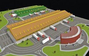 Diseño del mercado agrícola mayorista Chorotega.